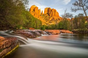 Sedona Cathedral from Creek